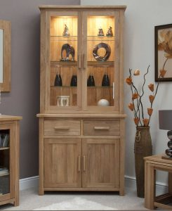 Homestyle Opus Solid Oak Small Dresser With Lights (Complete Unit)