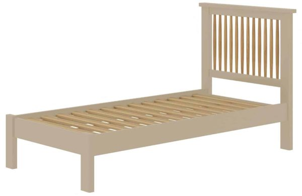 Classic Portland Painted Pebble 3′ Single Bed
