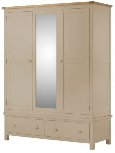 Classic Portland Painted Pebble Triple Wardrobe