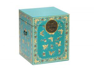 The Nine Schools Oriental Decorated Blue Trunk