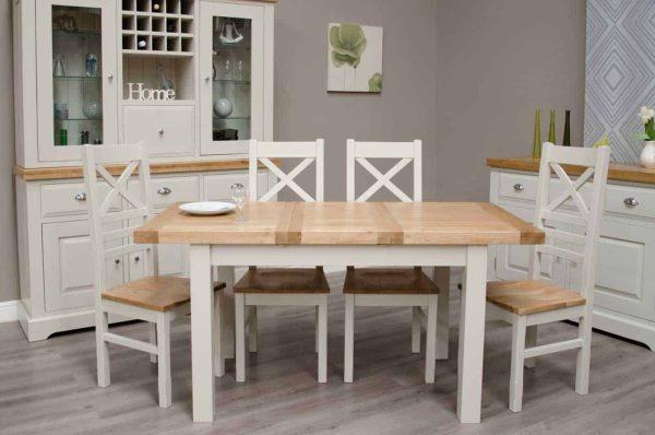 Painted Oak Dining Furniture Set