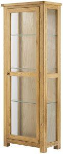 Classic Portland Oak Glazed Display Cabinet – oak