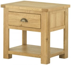 Classic Portland Oak Lamp Table with Drawer