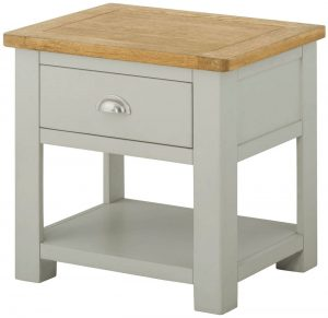Classic Portland Lamp Table with Drawer-stone
