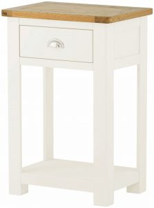 Classic Portland Painted White Small Console Table