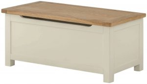 Classic Portland Painted Cream Blanket Box | Fully Assembled