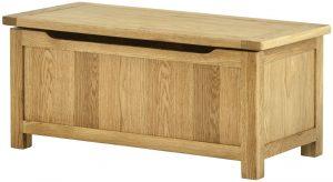 Classic Portland Oak Blanket Box | Fully Assembled