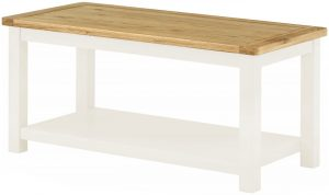 Classic Portland Painted White Coffee Table