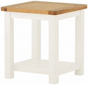 Classic Portland Painted White Lamp Table