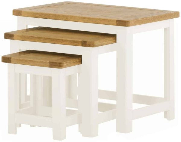 Classic Portland Painted White Nest of Tables