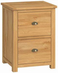 Classic Portland Oak Office 2 Drawer Filing Cabinet – oak