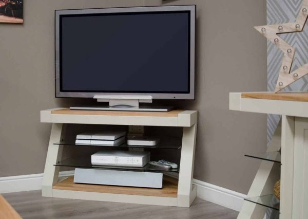 Homestyle Z Painted Corner TV Unit
