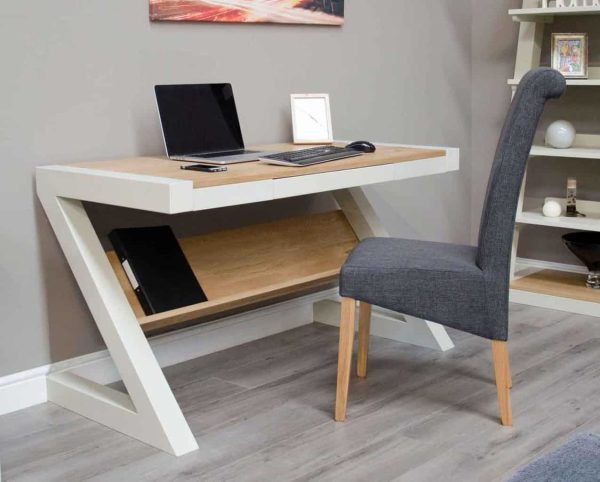 Homestyle Z Painted Small Computer Desk with 1 Shelf