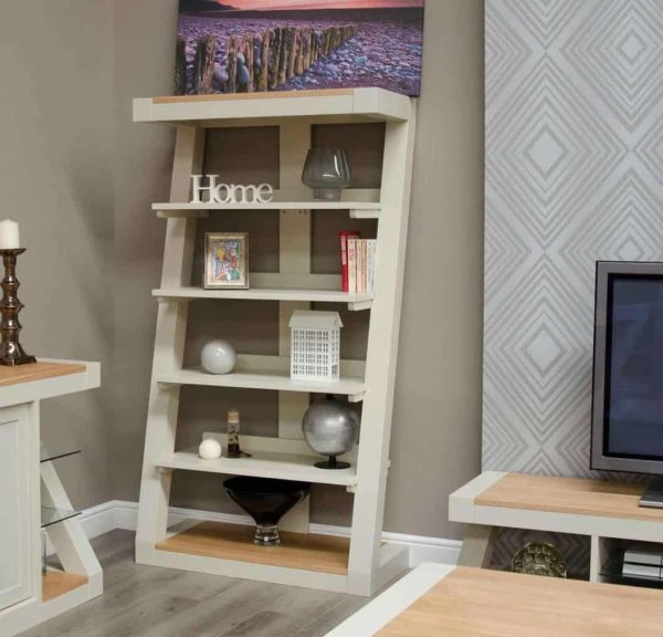 Homestyle Z Painted Large Bookcase with 4 Shelves