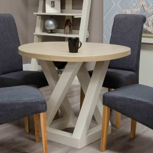 Homestyle Z Painted Round Dining Table