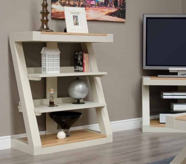 Homestyle Z Painted Small Bookcase with 2 Shelves