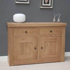Homestyle Bordeaux Oak 2 Door 2 Drawer Sideboard | Fully Assembled