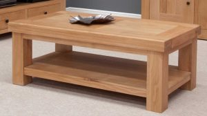 Homestyle Bordeaux Oak Coffee Table With Shelf | Fully Assembled