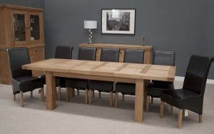 Homestyle Bordeaux Oak Twin Panel Large Extending Dining Table