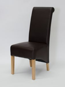 Richmond Coco Matt Finish Leather Dining Chair (Pair)