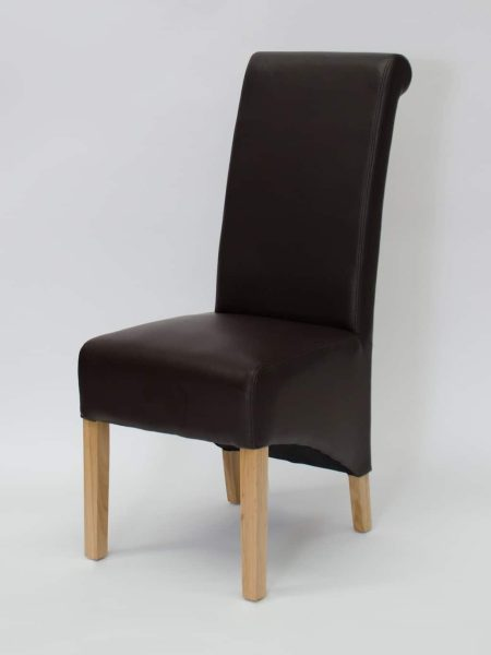 Richmond Coco Matt Finish Leather Dining Chair (Pair)