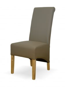Richmond Mushroom Leather Dining Chair (Pair)