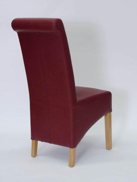 Richmond Ruby Matt Finish Leather Dining Chair (Pair)