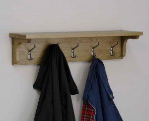 Homestyle Opus Solid Oak 5 Hook Coat Rack