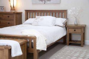 Original Rustic Solid Oak 5′ King Size Bed