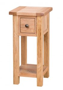 Besp-Oak Vancouver Select Oak Tall Side Table with 1 Drawer