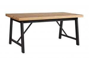 Besp-Oak Forge Iron and Oak Dining Table