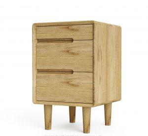 Homestyle ScSandic Oak 3 Drawer Bedside Cabinet