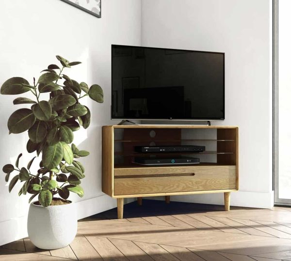 Homestyle Scandic Oak Corner TV Unit