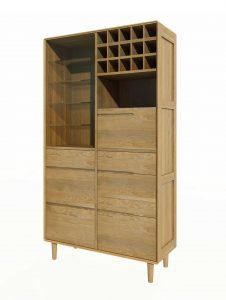Homestyle Scandic Oak Drinks Cabinet