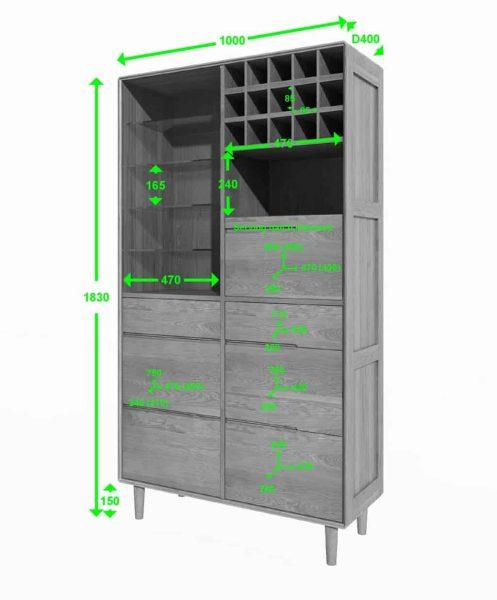 Homestyle Scandic Oak Drinks Cabinet