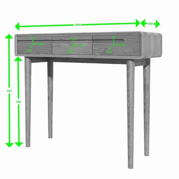 Homestyle Scandic Oak Hall Table