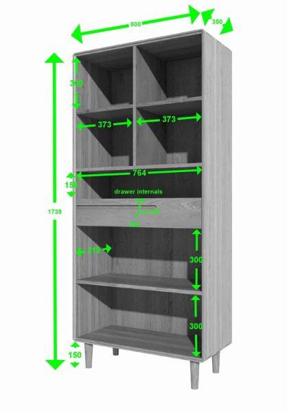 Homestyle Scandic Oak Large Bookcase