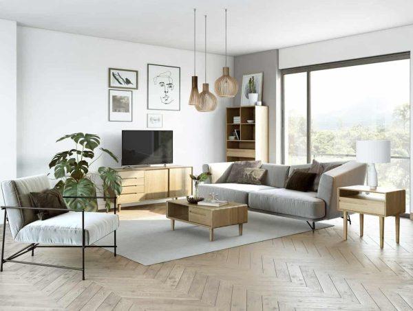 Homestyle Scandic Oak Wide TV Unit