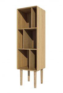 Homestyle Scandic Oak Narrow Bookcase
