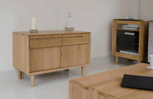 Homestyle Scandic Oak Narrow Sideboard – Reduced To Clear