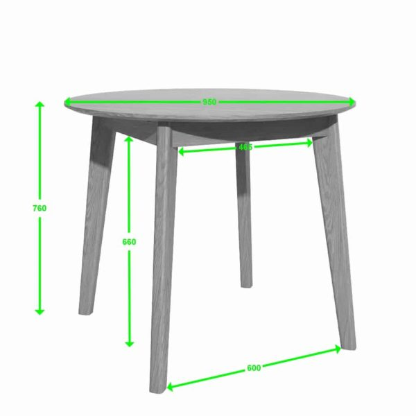 Homestyle Scandic Oak 950 Round Dining Table