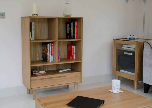 Homestyle Scandic Oak Small Bookcase with drawer