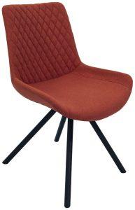 Sigma Dining Chair-Burnt Orange (Pair)
