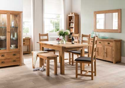 Suffolk Solid Oak Small Dining Bench
