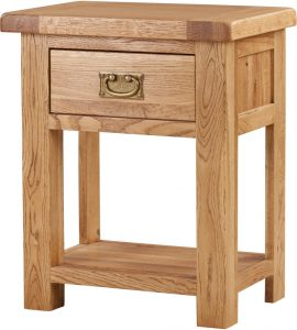 Suffolk Solid Oak 1 Drawer Night Stand | Fully Assembled