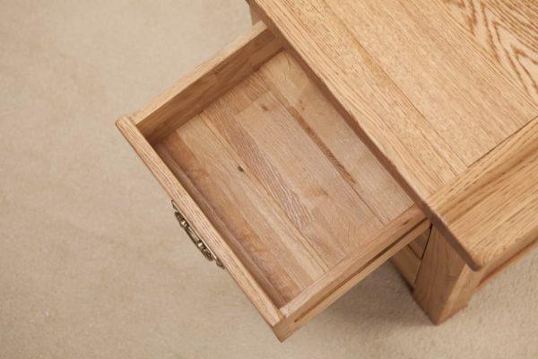Suffolk Solid Oak 3 Drawer Bedside Cabinet | Fully Assembled
