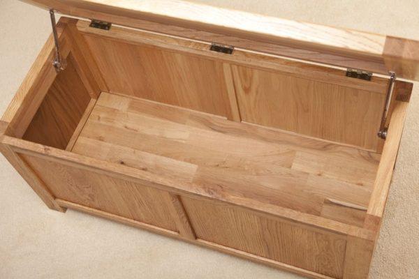 Suffolk Solid Oak Large Blanket Box   Fully Assembled