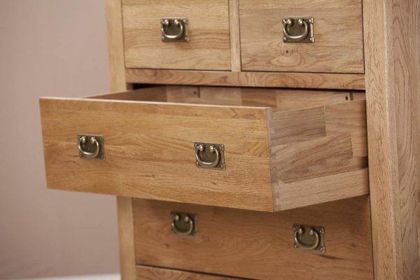 Suffolk Solid Oak 2 over 2 Drawer Chest | Fully Assembled