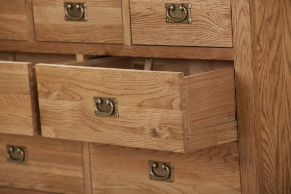 Suffolk Solid Oak 3 Over 4 Drawer Chest | Fully Assembled