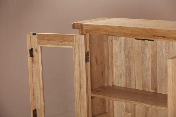 Suffolk Solid Oak 3′ Glass Door Dresser (Top Only) | Fully Assembled